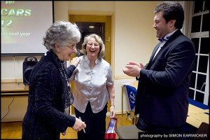 Brenda gets a pressie from Freddy and Chris for all her competition work