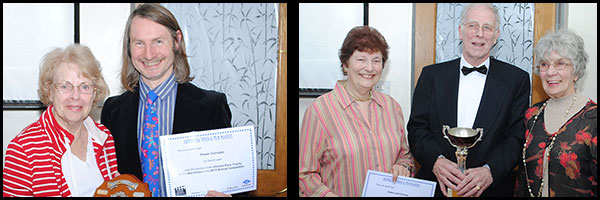 Winners: David Laker (collected by Peggy Parmenter)/Ann & John Epton