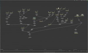 My Apple Shake 'node tree' workflow which keyed out just one clip