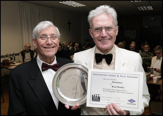Roger gives Brian the Rene Morris Penguin Plate